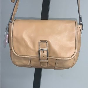 Coach Hadley Field Tan leather crossbody F29763